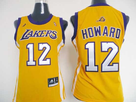 Women  Nba Los Angeles Lakers #12 Howard Gold Jersey