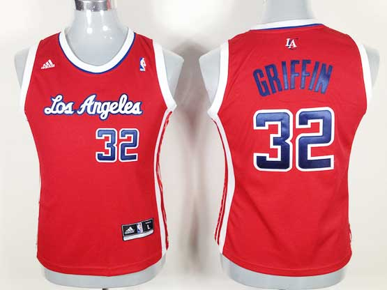Women  Nba Los Angeles Clippers #32 Griffin Red Jersey
