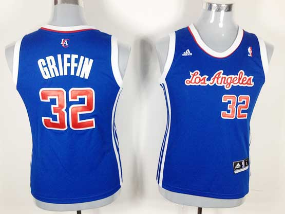 Women  Nba Los Angeles Clippers #32 Griffin Blue Jersey