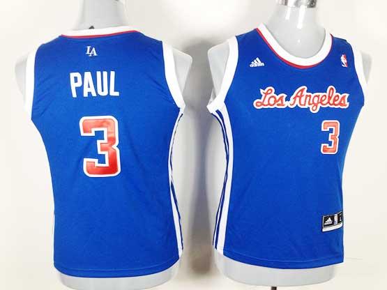 Women  Nba Los Angeles Clippers #3 Paul Blue Jersey