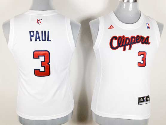 Women  Nba Los Angeles Clippers #3 Paul White Jersey