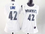 Women  Nba Minnesota Timberwolves #42 Love White Jersey