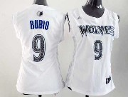 Women  Nba Minnesota Timberwolves #9 Rubio White Jersey
