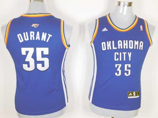 Women  Nba Oklahoma City Thunder #35 Durant Blue Jersey