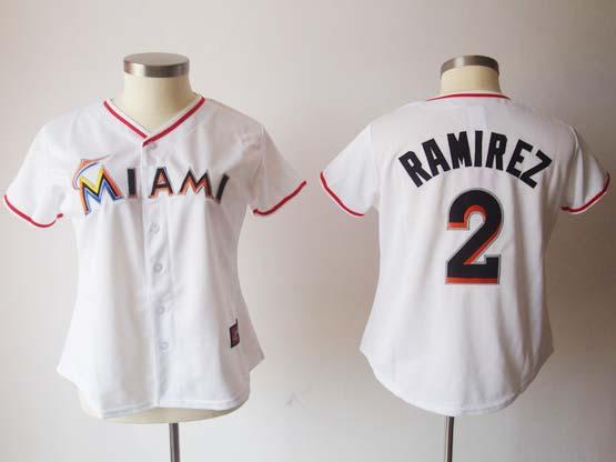 Women  Mlb Miami Marlins #2 Ramirez White (miami) Jersey