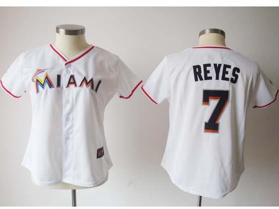 Women  Mlb Miami Marlins #7 Reyes White (miami) Jersey