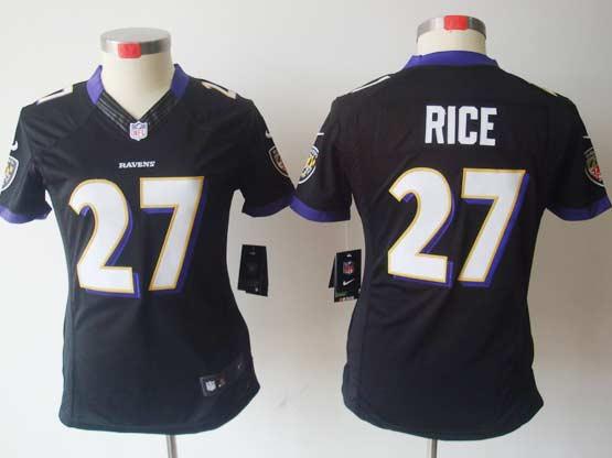 Women  Nfl Baltimore Ravens #27 Sheldon Price Black Limited Jersey