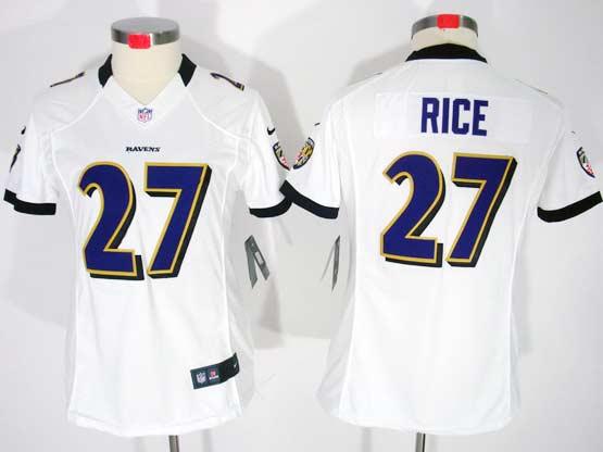 Women  Nfl Baltimore Ravens #27 Sheldon Price White Limited Jersey