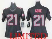 Women  Nfl San Francisco 49ers #21 Gore Black Impact Limited Jersey