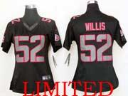 Women  Nfl San Francisco 49ers #52 Willis Black Impact Limited Jersey