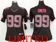 Women  Nfl San Francisco 49ers #99 Smith Black Impact Limited Jersey
