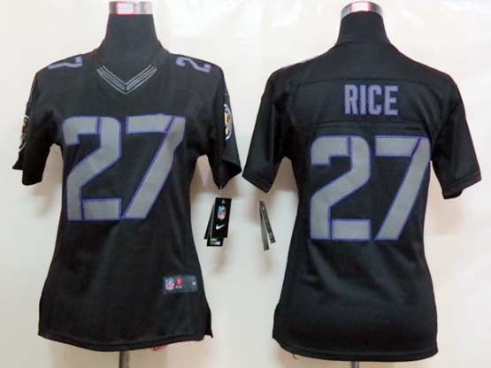 Women  Nfl Baltimore Ravens #27 Sheldon Price Black Impact Limited Jersey