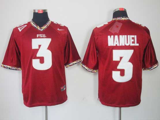 Mens Ncaa Nfl Florida State Seminoles 3 Manuel Red (fsu) Jersey Gz