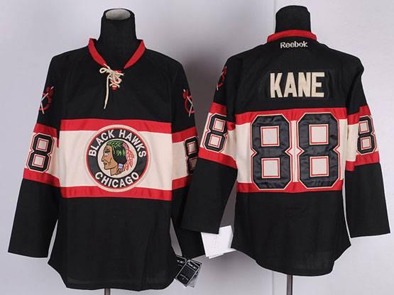 Mens reebok nhl chicago blackhawks #88 kane black (new third) Jersey