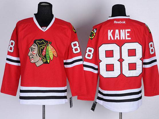 Mens reebok nhl chicago blackhawks #88 kane red Jersey