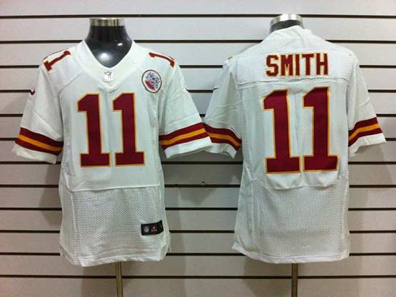 Mens Nfl Kansas City Chiefs #11 Smith White Elite 50th Jersey
