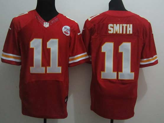 Mens Nfl Kansas City Chiefs #11 Smith Red Elite 50th Jersey
