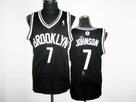 Mens Nba Brooklyn Nets #7 Johnson (brooklyn) Black Revolution 30 Mesh Jersey