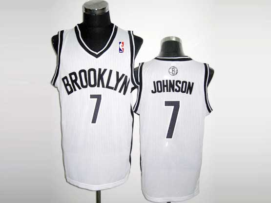 Mens Nba Brooklyn Nets #7 Johnson (brooklyn) White Revolution 30 Mesh Jersey