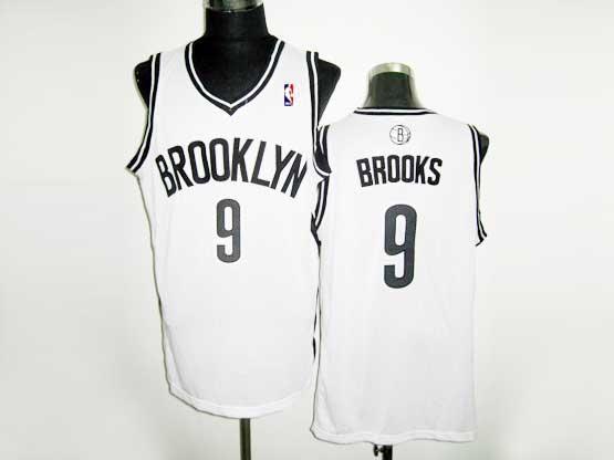 Mens Nba Brooklyn Nets #9 Brooks (brooklyn) White Revolution 30 Mesh Jersey