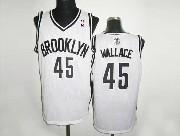 Mens Nba Brooklyn Nets #45 Wallace (brooklyn) White Revolution 30 Mesh Jersey