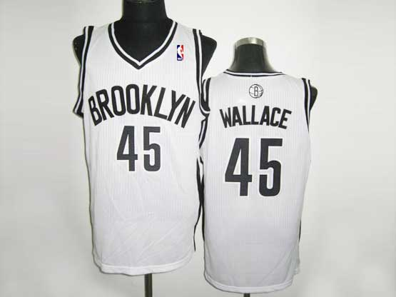 Mens Nba Brooklyn Nets #45 Wallace (brooklyn) White Revolution 30 Mesh Jersey