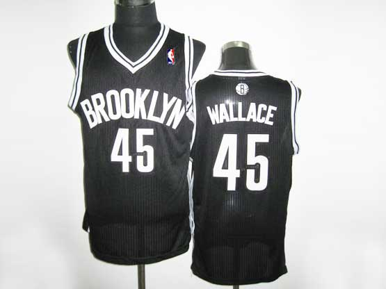 Mens Nba Brooklyn Nets #45 Wallace (brooklyn) Black Revolution 30 Mesh Jersey