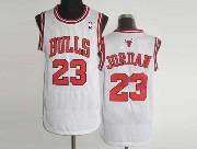 Mens NBA Chicago Bulls #23 JORDAN WHITE Revolution 30 MESH JERSEY