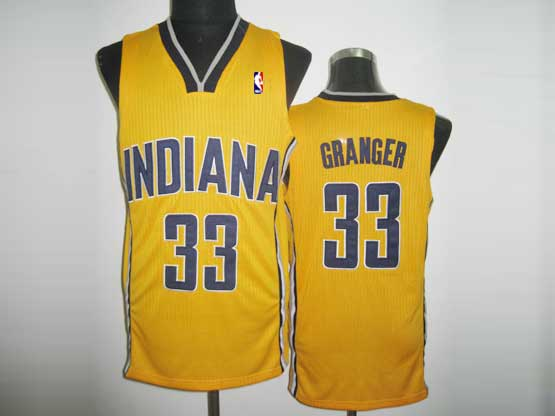 Mens Nba Indiana Pacers #33 Granger Yellow Revolution 30 Mesh Jersey