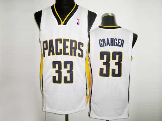 Mens Nba Indiana Pacers #33 Granger White Revolution 30 Mesh Jersey