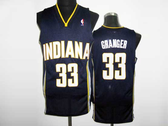 Mens Nba Indiana Pacers #33 Granger Dark Blue Revolution 30 Mesh Jersey