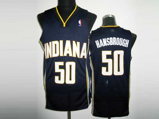 Mens Nba Indiana Pacers #50 Hansbrough Dark Blue Revolution 30 Mesh Jersey
