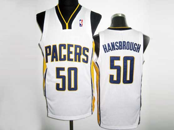 Mens Nba Indiana Pacers #50 Hansbrough White Revolution 30 Mesh Jersey