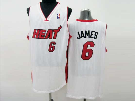 Mens Nba Miami Heat #6 James White (red Number) Jersey