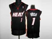 Mens Nba Miami Heat #1 Bosh Black&white Number Revolution 30 Mesh Jersey