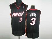 Mens Nba Miami Heat #3 Wade Black&white Number Revolution 30 Mesh Jersey