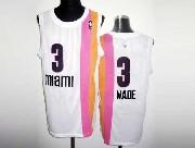 Mens Nba Miami Heat #3 Wade White Rainbow Revolution 30 Mesh Jersey