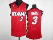 Mens Nba Miami Heat #3 Wade Red Revolution 30 Mesh Jersey