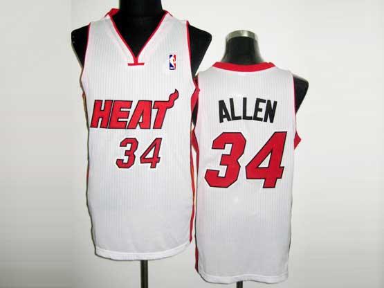 Mens Nba Miami Heat #34 Allen White Revolution 30 Mesh Jersey