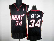 Mens Nba Miami Heat #34 Allen Black&white Number Revolution 30 Mesh Jersey
