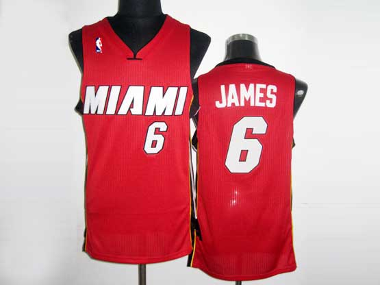 Mens Nba Miami Heat #6 James Red Revolution 30 Mesh Jersey