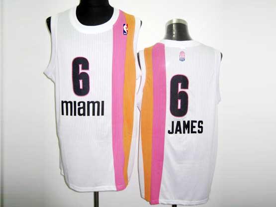 Mens Nba Miami Heat #6 James White Rainbow Revolution 30 Mesh Jersey