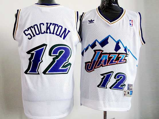 Mens Nba Utah Jazz Custom Made White Snowberg Hardwood Throwback Jersesy