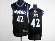 Mens Nba Minnesota Timberwolves #42 Love Black Revolution 30 Mesh Jersey