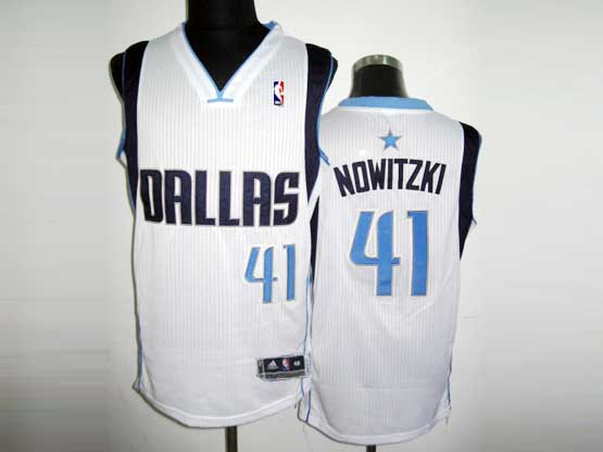Mens Nba Dallas Mavericks #41 Nowitzki White Revolution 30 Mesh Jersey