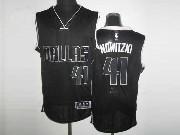 Mens Nba Dallas Mavericks #41 Nowitzki Black&black Number Revolution 30 Mesh Jersey