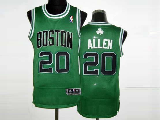 Mens NBA Boston Celtics #20 ALLEN GREEN&BLACK NUMBER Revolution 30 MESH JERSEY