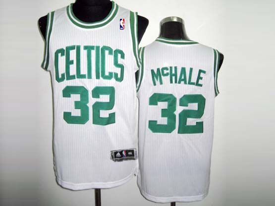 Mens Nba Boston Celtics #32 Mchale White Revolution 30 Mesh Jersey