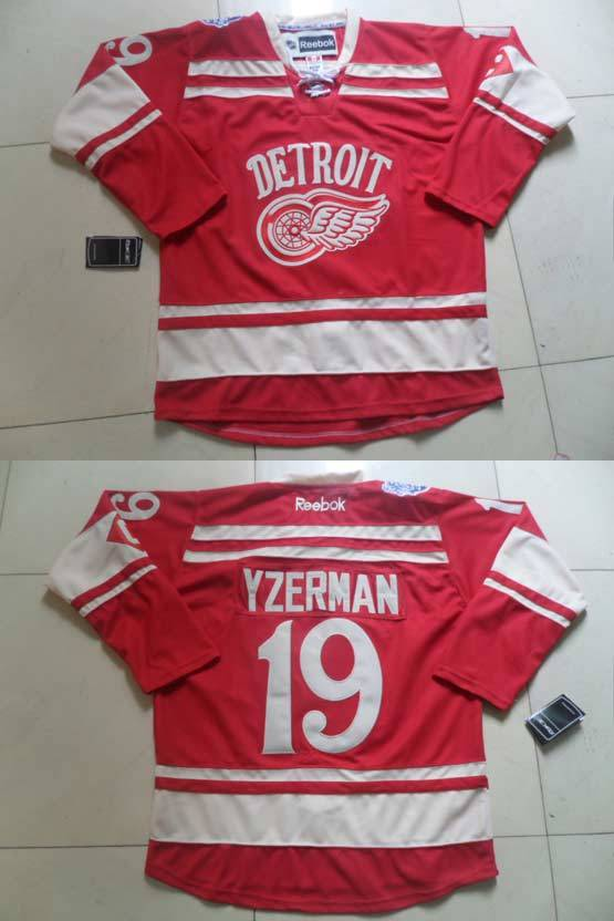 Mens reebok nhl detroit red wings #19 yzerman red with c (2014 winter classic) Jersey