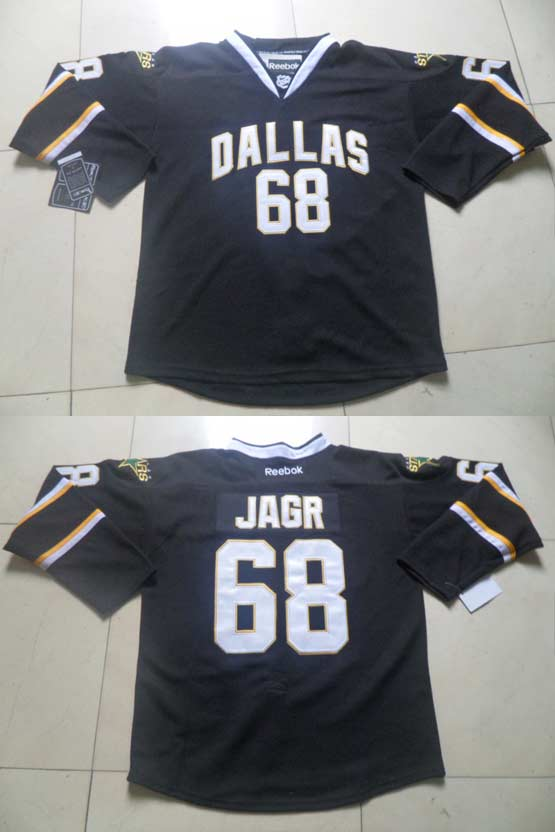 Mens reebok nhl dallas stars #68 jagr black Jersey